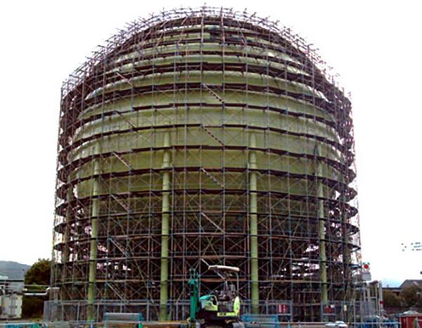 日本ガス(株)鹿児島市谷山供給所 球形タンク更新工事