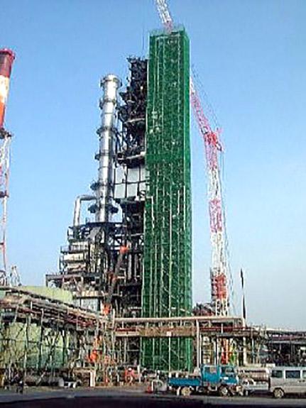西部石油(株)CCR建設工事の内エレベーター建屋工事