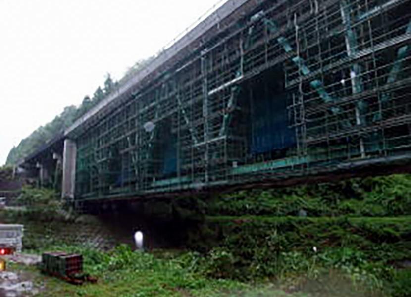 中国道島地川橋 耐震補強工事