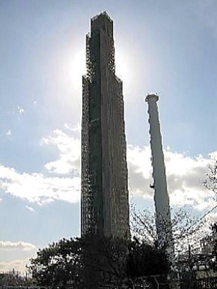 日本ゼオン(株)徳山工場112m煙突耐震補強工事